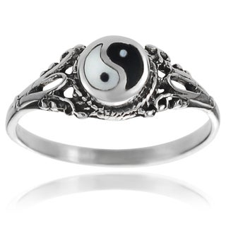 Tressa Collection Sterling Silver Yin Yang Ring