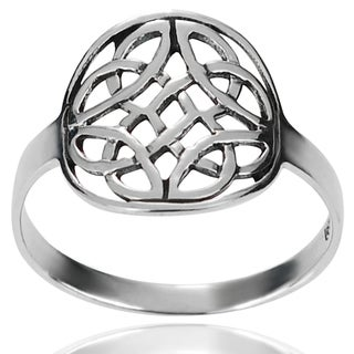 Tressa Collection Sterling Silver Round Celtic Knot Ring
