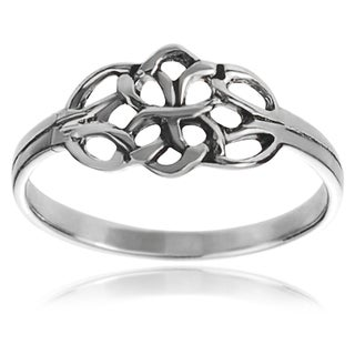 Tressa Collection Sterling Silver Celtic Double Knot Ring