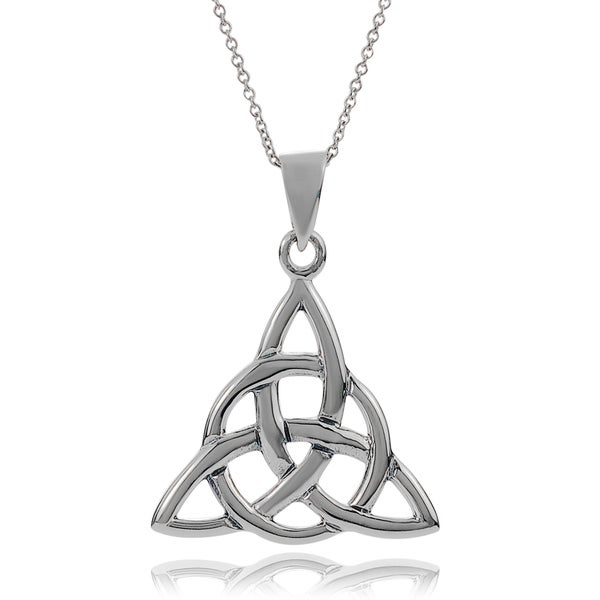 Tressa Collection Sterling Silver Celtic Knot Pendant