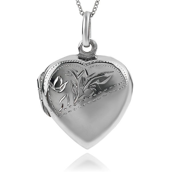 Journee Collection Sterling Silver Heart Locket Pendant