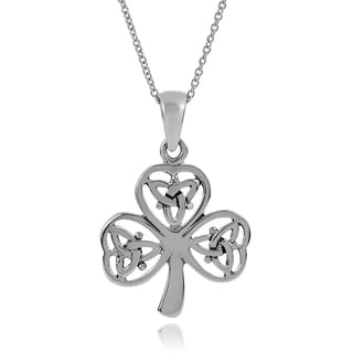 Tressa Collection Sterling Silver Celtic Shamrock Pendant