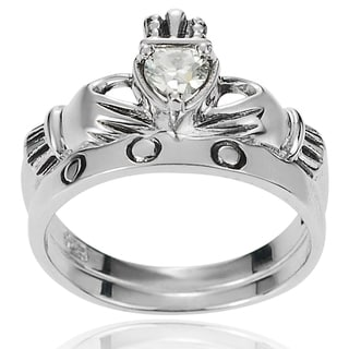 Tressa Collection Sterling Silver Cubic Zirconia Bridal Style Ring Set