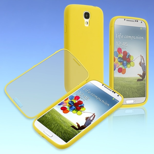 BasAcc Yellow/ Frosted Book TPU Case for Samsung Galaxy S4/ S IV i9500