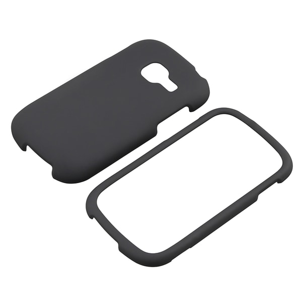 BasAcc Black Rubber Coated Case for Samsung Galaxy Centura S738C