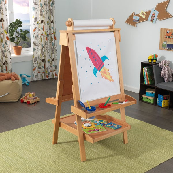 kidkraft kid 39 s deluxe wood easel 15524682 shopping the best prices on. Black Bedroom Furniture Sets. Home Design Ideas