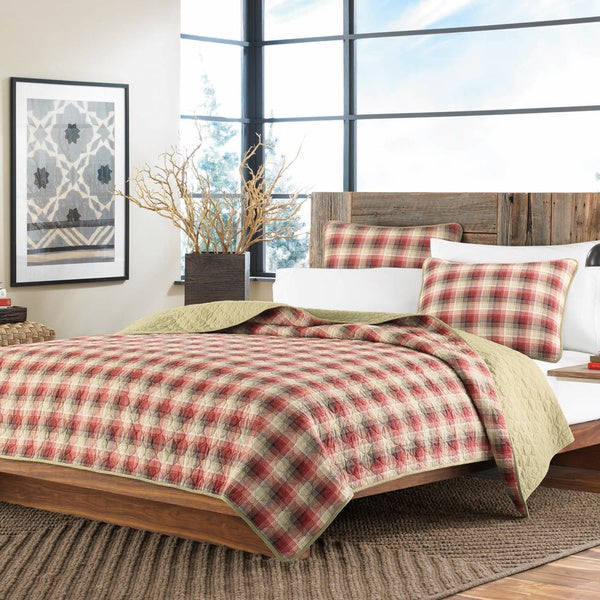 Eddie Bauer Ravenna Plaid 3-piece Reversible Quilt Set