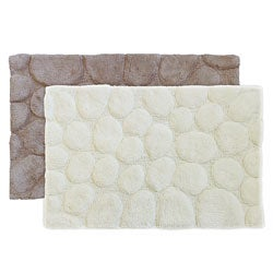 Sherry Kline Stone Embossed Cotton 21 x 32 Bath Rug (Set of 2)
