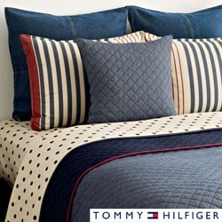 Tommy Hilfiger Chambray 3-piece Cotton Reversible Quilt Set
