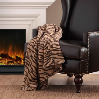 Madison Park Chapman Long Fur Zebra Throw