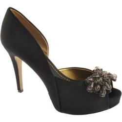 Women's Nine West Cassedi 2 Black Satin