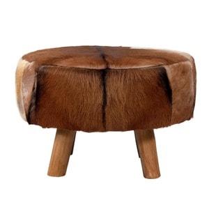 Decorative Brown Rustic Round Teak Log Dining Table Base