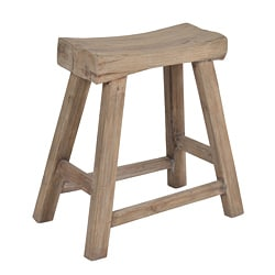 Saddle Seat 18 Inch Walnut Barstools Set Of 2