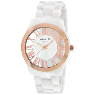 Kenneth Cole Women's 'Transparency KC4860' White Plastic White Dial Quartz Watch