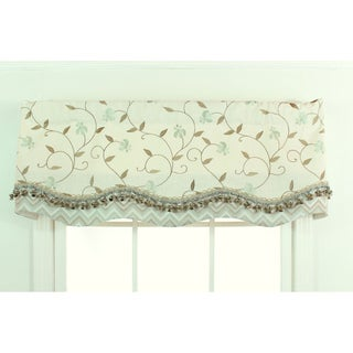 Mist Embroidered Bloom Glory Valance