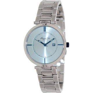 Kenneth Cole Women's 'KC4919' Silvertone Stainless Steel Blue Dial Quartz Watch