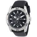 Festina Men's 'F16607/2' Black Calf Skin Black Dial Analog Quartz Watch