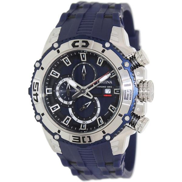 Festina Men's 'Tour de France F16601/1' Blue Rubber Blue Dial Analog Quartz Watch