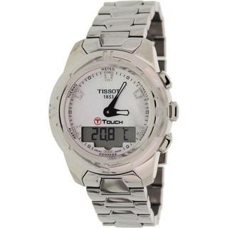 Tissot Women's 'T-Touch Ii T047.220.44.116.00' Silvertone Titanium Mother-of-Pearl Dial Swiss Quartz Watch