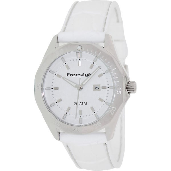 Freestyle Women's 'Avalon 101801' White Silicone White Dial Quartz Watch
