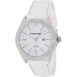 Freestyle Women's 'Avalon 101801' White Silicone White Dial Quartz Watch