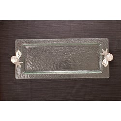 Shells Hammered Glass Rectangular Tray