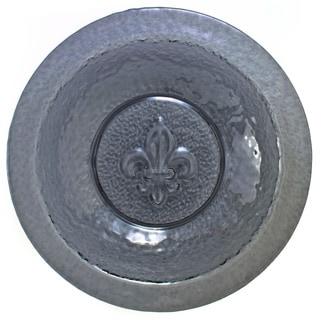 Fleur de Lis 14-inch Embossed Glass Bowl