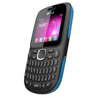 BLU Samba TV Q170T Unlocked GSM Dual-SIM Cell Phone - Black/Blue