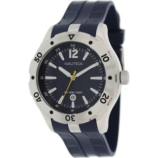 Nautica Men's 'Nst 401 N14641G' Blue Rubber Blue Dial Quartz Watch