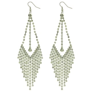 Kate Marie Silvertone Rhinestone 'Bella' Fashion Earrings