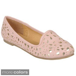 Hailey Jeans Co. Women's 'Messina-28' Round Toe Metallic Accent Flats