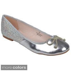 Journee Collection Women's 'Sapphire-81' Round Toe Bow Ballet Flats