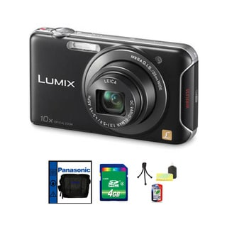 Panasonic Lumix DMC-SZ5 14.1MP Wi-Fi Black Digital Camera 4GB Bundle