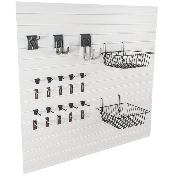 GlideRite Slatwall Garage Organization Economy Kit