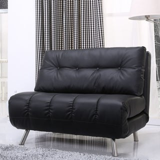 Gold Sparrow Tampa Black Convertible Big Chair Bed