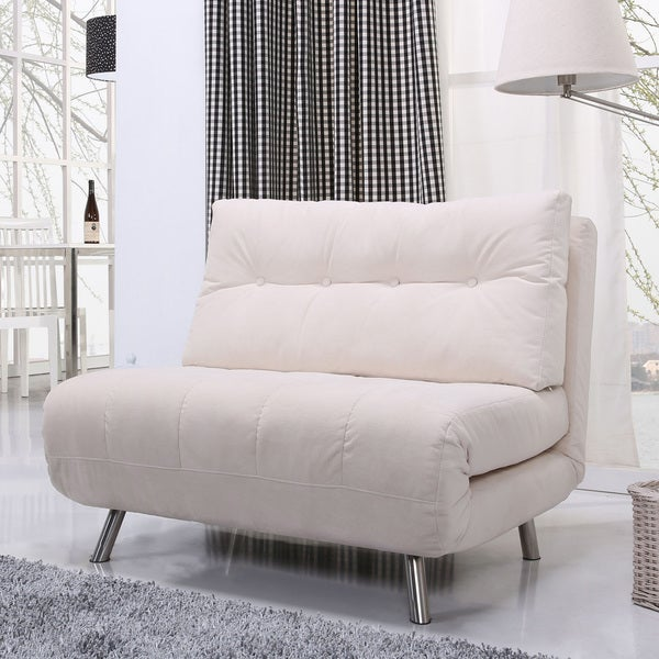 Gold Sparrow Tampa Ivory Convertible Big Chair Bed