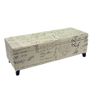 Warehouse of Tiffany Signature Print Fabric Ottoman