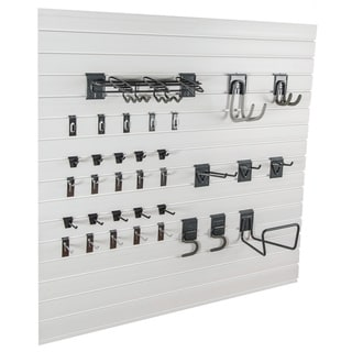 Slatwall Garage Organization Tool Kit with Accessories