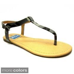 Blue Women's Jazzy Camo Sandals