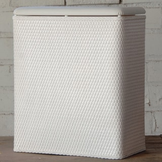 'Carter' White Upright Hamper