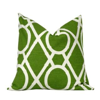 Grass Green Bamboo Decorative Throw Pillow