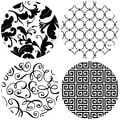 Black/White Round Occasions Drink Coasters (Set of 4)