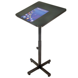 Offex Mobile Floor Standing Height Dark Grey Adjustable Presentation Lectern