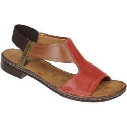Women's Naturalizer Ringo Red Pepper/Cognac/Olive Wreath Mirage Leather