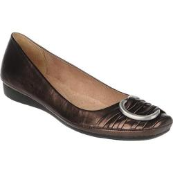 Women's Naturalizer Violette Dark Brown/Bronze Metallic Foil Sheep Max Napa
