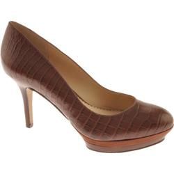 Women's Nine West Sevenna Dark Brown Croc Synthetic