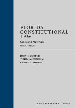 Florida Constitutional Law: Cases and Materials (Hardcover)