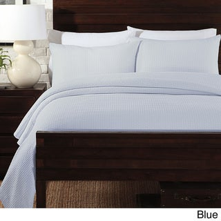 Basketweave Matelasse 3-piece Coverlet Set Full/ Queen