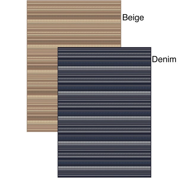 "Adley Stripes Area Rug (5'5""x7'7"")"