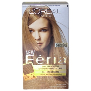 L'Oreal Feria Multi-Faceted Shimmering Color Dark Iridescent Blonde #72 Hair Color (1 Application)